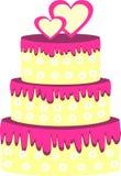 Pink wedding cake Stock Photography