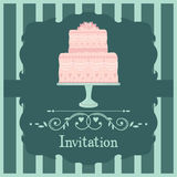Pink wedding cake Royalty Free Stock Images