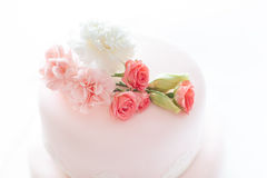 Pink wedding cake. Stock Image