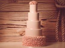 Pink wedding cake Royalty Free Stock Photo