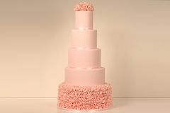 Pink wedding cake Royalty Free Stock Image