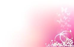 Pink wedding card Stock Photos
