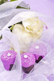 Pink wedding chocolate Stock Images