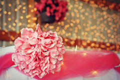 Pink Wedding Decorations Stock Photos