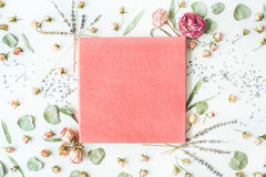 Pink wedding or family photo album stock image