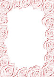 Pink wedding frame. Pink wedding background with floral frame - relief Stock Photography