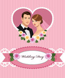 Pink Wedding invitation Royalty Free Stock Photos