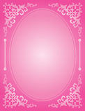 Pink wedding invitation Stock Image