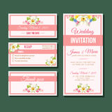 Pink wedding Invitation template Royalty Free Stock Photography