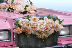 Pink Wedding Limousine Royalty Free Stock Photo