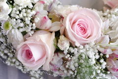 Pink Wedding Roses Stock Photography