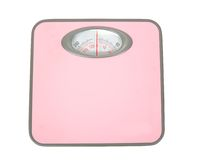 Pink Weighing Scales Isolated Royalty Free Stock Photography