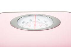 Pink Weighing Scales Isolated Stock Images