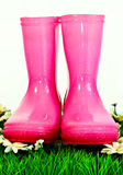 Pink wellingtons Royalty Free Stock Photography