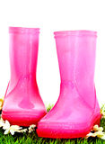 Pink wellies Stock Photos