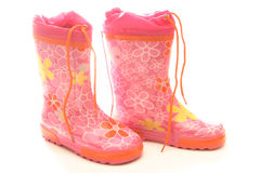 Pink wellington boots Royalty Free Stock Image