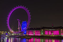 Pink Westminster Royalty Free Stock Images