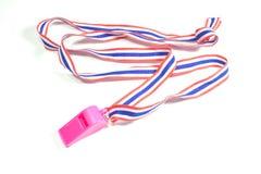 Pink whistle Stock Photo