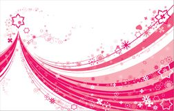 Pink on white abstract Royalty Free Stock Image