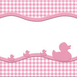 Pink and White Baby Frame for your message Royalty Free Stock Photos