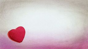 pink-white backdrop and heart Stock Image