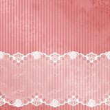 Pink and white background with lace Stock Photo