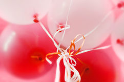 Pink and white balloons with helium background Stock Photography