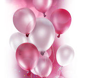 Pink and white balloons Stock Photos