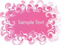 Pink and White Banner Royalty Free Stock Image