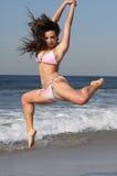 Pink and white bikini Stock Image