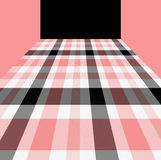 Pink, white and black checkered pattern Royalty Free Stock Photos