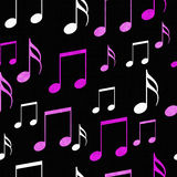 Pink, White and Black Music Notes Tile Pattern Repeat Background Royalty Free Stock Photo