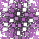 Pink, White and Black Square Mosaic Abstract Geometric Design Ti Stock Images