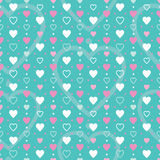 Pink white and blue hearts background Stock Photos