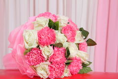 Pink and white bouquet Stock Photos