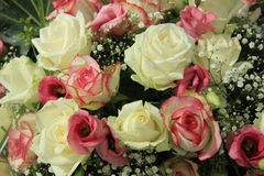 Pink and white bridal bouquet Stock Photography