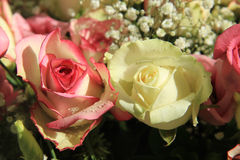 Pink and white bridal bouquet Royalty Free Stock Images