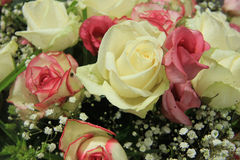 Pink and white bridal bouquet Royalty Free Stock Photo