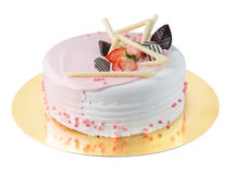 Pink white cake Royalty Free Stock Photos