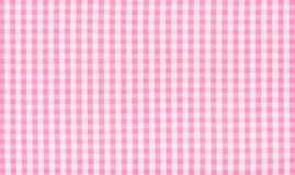Pink and white checkered textile Stock Images