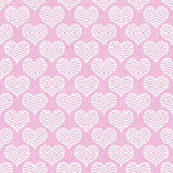 Pink and White Chevron Hearts Pattern Repeat Background Royalty Free Stock Photos