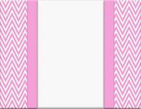 Pink and White Chevron Zigzag Frame with Ribbon Background