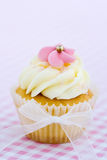 Pink and white cupcake royalty free stock images