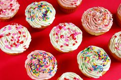 Pink and white cupcakes Royalty Free Stock Photo
