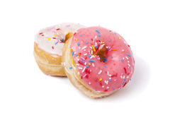 Pink and White Donuts  Royalty Free Stock Images