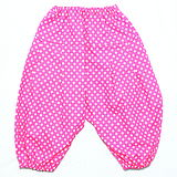 Pink with white dots pattern baby pants Stock Image