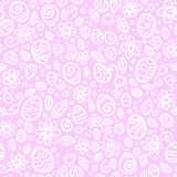 Pink and white Easter eggs seamless pattern Royalty Free Stock Image