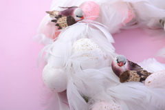 Pink and White Easter Wreath Royalty Free Stock Photography