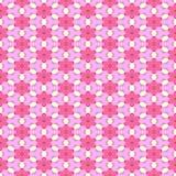 Pink white floral seamless pattern fractal mandelbrot manipulation. Pink white floral seamless kaleidoscopic pattern - digitally rendered fractal manipulation Stock Photo