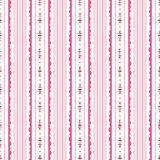 Pink and White Floral Stripes Background Vector Seamless Pattern. Modern Classic Geometric pattern. Monochrome Flowers. Pink and White Ditsy Floral Vertical vector illustration